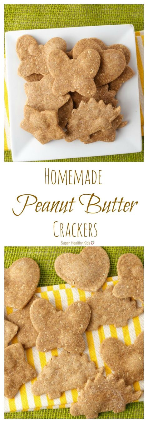 Homemade Peanut Butter Crackers - Super Healthy Kids