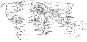 World Map Coloring Page World Map Coloring Page With Countries United States Label Online Davemelillo Com World Map Coloring Page World Map Printable Blank World Map