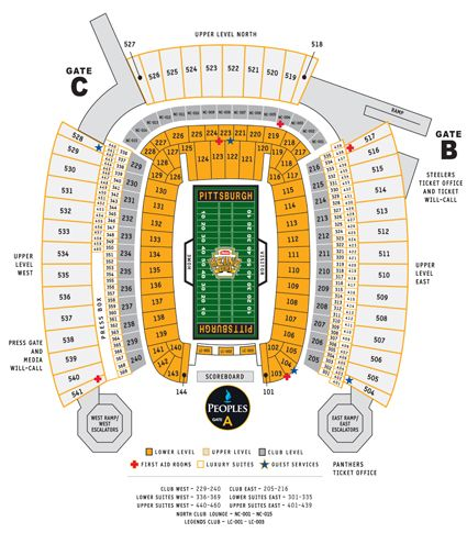 Pittsburgh steelers heinz field seating chart show some love