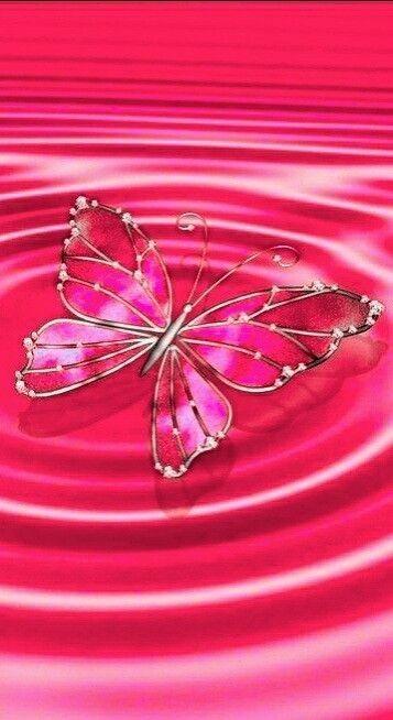Pink Butterfly Butterfly Wallpaper Pink Wallpaper Backgrounds Iphone Wallpaper Glitter Cute glitter pink butterfly wallpaper