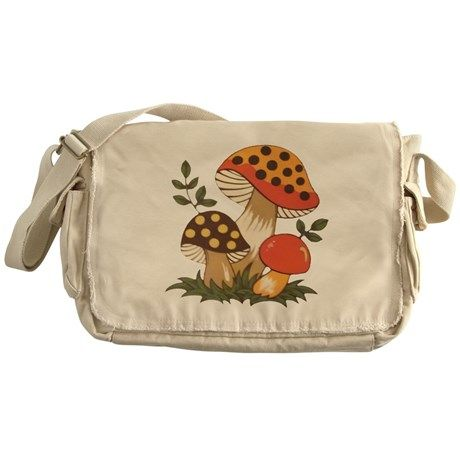 Vintage Kitchen A vintage look can be achieved with this retro design. - About Messenger Bag Canvas Messenger Bag heavyweight cotton canvas W x 11 H x 4 D Adjustable shoulder strap Enzyme-washed for a cool retro look Antique brass slider Aesthetic Fashion, Aesthetic Clothes, Aesthetic Shop, 1970s Aesthetic, Aesthetic Bags, Quirky Fashion, Mushroom Decor, Cool Outfits, Fashion Outfits