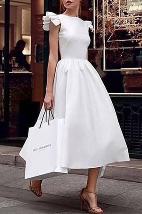 Looking for Flutter Solid Color A-Line Dress? Fancywe offers lots of Maxi Dresses in different styles, colors and materials. Dress your own style with Flutter Solid Color A-Line Dress
