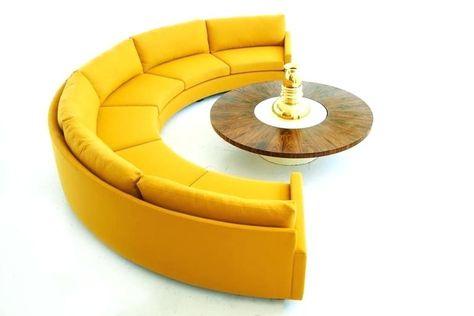 Half Circle Couches Semi Sectional Sofa 2 Small
