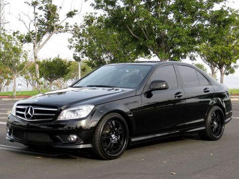 Black Wheeled Mercedes Benz W204 With Images Mercedes Benz