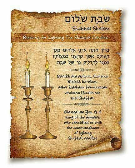Prayer For Lighting The Shabbot Candles Learn Hebrew Today