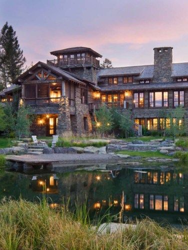 Breathtaking Rustic Ranch House Tucked Into The Beartooth Mountains Modern Mountain Home Rustic Retreat Ranch House