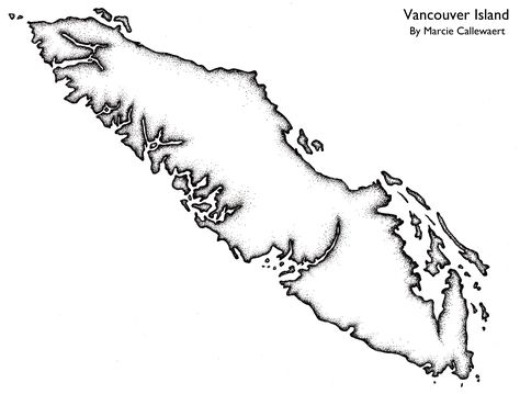vancouver island outline picture - Google Search