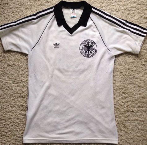 Adidas DFB Deutschland Trikot WM 1982 Vintage Oldschool 1990