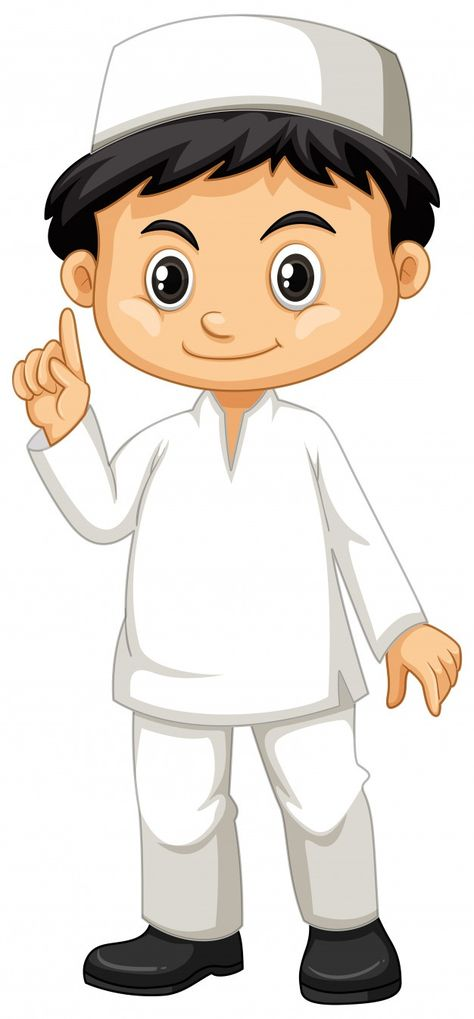 Download Indonesian Boy In White Outfit For Free In 2021 Cartoon Images Islamic Cartoon Cartoon Clip Art