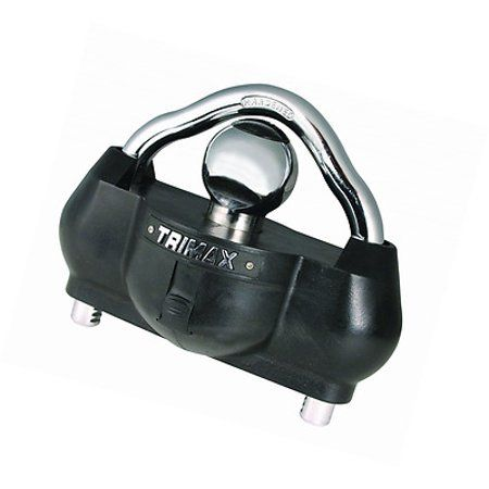 Trimax UMAX100 Premium Universal Solid Hardened Steel Trailer Lock fits All couplers