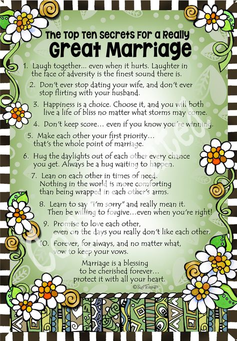 The Top Ten Secrets For a Really Great Marriage – 8×10 Gifty Art – Suzy Toronto: Gifts for Women