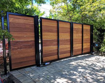 Pin By Joel Rodriguez On Gate In 2020 Wooden Gates Driveway Wood Gates Driveway Gate Kit