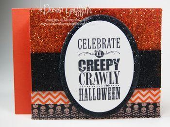 Dawn Griffin: Dawn's Stamping Thoughts SU Stamps: Halloween Bash. SU cs: Tangerine Tango. Black & Orange glitter; Witches Brew Designer Washi Tape.