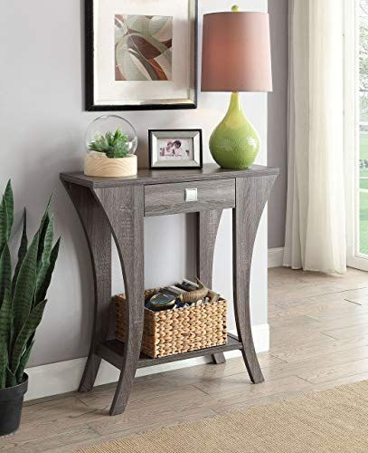 Amazing Offer On Weathered Grey Finish Console Sofa Entry Table