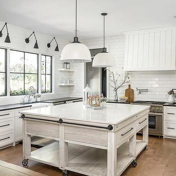 Light Gray Oak Island With Bronze Towel Rails Modern Farmhouse Kitchens Classical Kitchen Modern Farmhouse Style