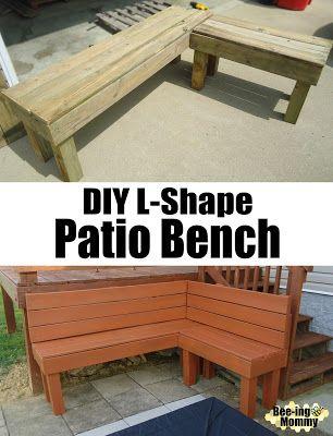 Diy L Shape Patio Bench Diy Patio Bench Diy Patio Furniture Patio Bench