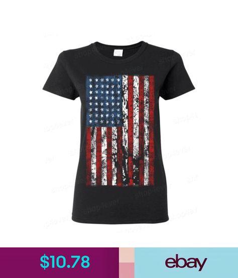 American Flag vintage WOMAN T-SHIRT distressed USA flag  American Patriotism tee