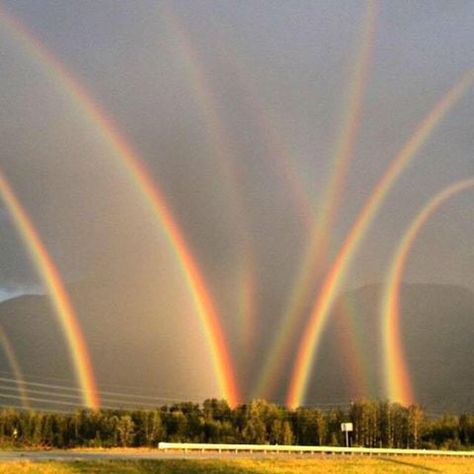Pictures of Earth; Earth Pictures only — Eight Rainbows! WOW Lehigh Valley, PA x Beautiful Sky, Beautiful Landscapes, Beautiful World, Beautiful Places, All Nature, Science And Nature, Amazing Nature, Pretty Pictures, Cool Photos