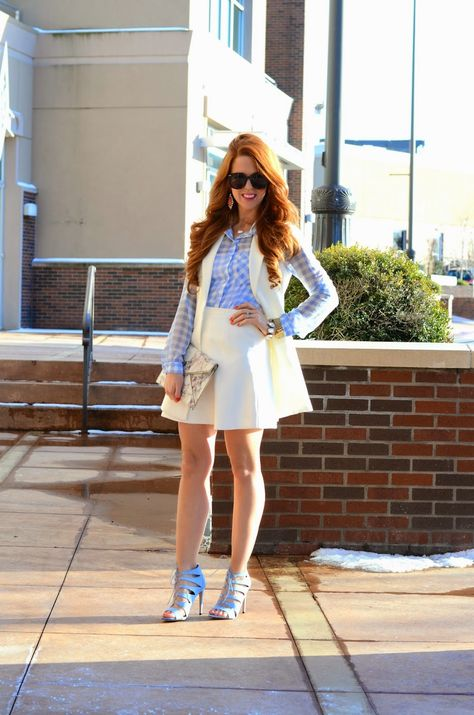 A fun take on a spring suit with a #fabfound @marshalls vest
