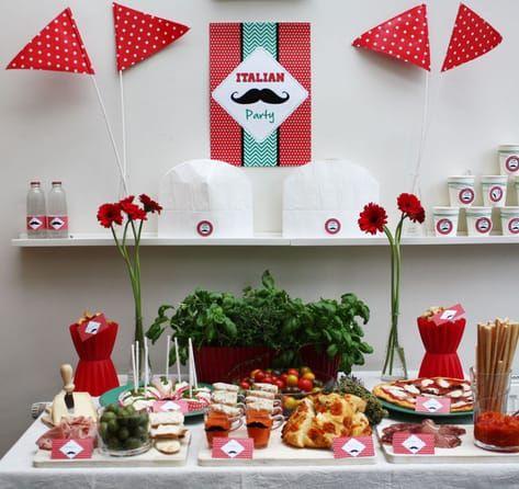 Moustache Italian Party Feestjes Italiaans Feestje