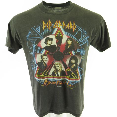 Def Leppard 80s Heavy Metal Band Rock n Roll Whole Crew Adult T-Shirt Tee