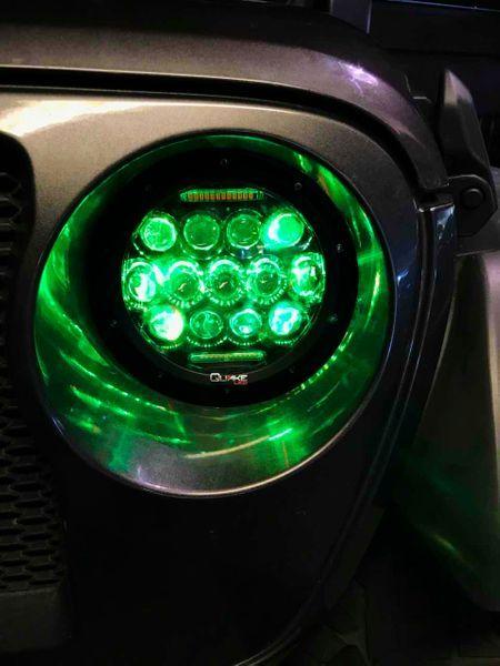Jeep Jl Led Headlight W Turn Signal 75 Watt Rgb Quake Jeep Jl Led Headlights Jeep Wrangler