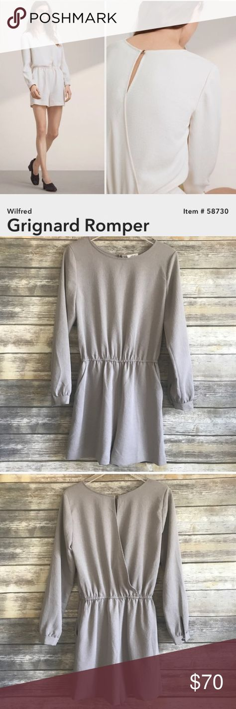 b92a9ea72bc WILFRED Grignard long sleeve romper from ARITZIA Beautiful grey romper with  long sleeves. Nice weight