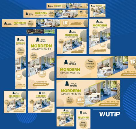 Real Estate Web Ad Banners Template PSD