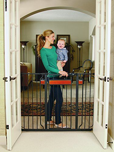 4 Regalo Easy Step Extra Tall Walk Thru Gate Includes 6-Inch Extension Kit