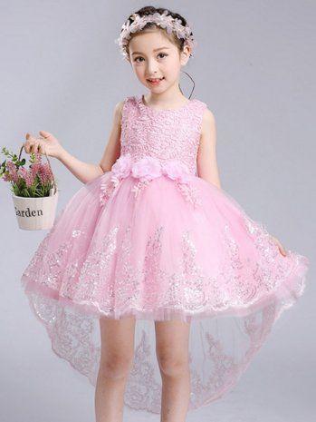 b9ad1f08d5 Cute Bowknot 3/4 Length Sleeve V-Neck Party Girls Dress   sweet 16 ...