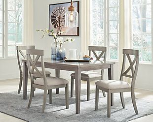 Parellen Dining Table Ashley Furniture Homestore Counter Height Dining Room Tables Grey Dining Room Grey Dining Tables