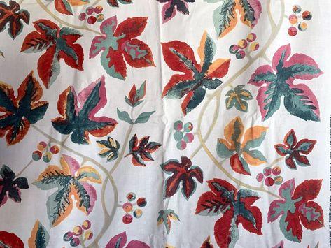 "Marimekko ""Talvipuutarha"" vintage 100% cotton fabric, sold by the half yard"