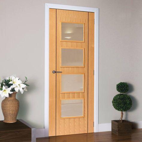J B Kind Oak Contemporary Blenheim Fire Door 1 2 Hour Fire Rated Prefinished Pocket Doors Oak Fire Doors Oak Doors With Glass