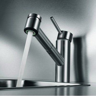 Kwc Suprimo Pull Out Single Handle Kitchen Faucet With Jetclean
