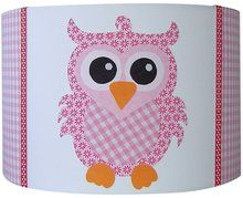Kinderkamer Lamp Roze : Roze uiltjes lamp slaapkamer lorena