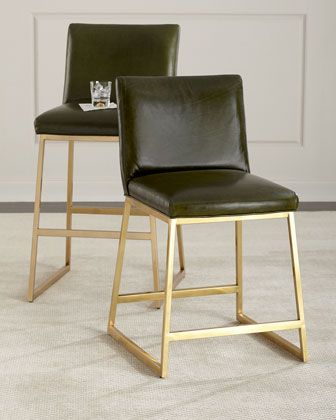Incredible Reza Brass Counter Stool And Matching Items By Massoud At Onthecornerstone Fun Painted Chair Ideas Images Onthecornerstoneorg