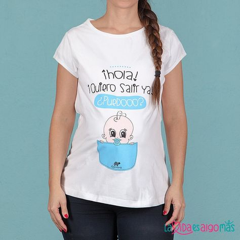 ¡Buenos días! Para todas vosotras, futuras mamás, ¡esta camiseta diseñada con mucho amor! ¡Encuentra éste y otros modelos en la shop! • www.lavidaesalgomas.com > Camisetas Premamá • ¡Aprovecha que tiene descuento especial! #lavidaesalgomas #camisetaspremama #camisetasembarazada #bebesymamas #mamas #mamasmolonas #felizviernes #viernes #embarazo #camisetas #embarazadas