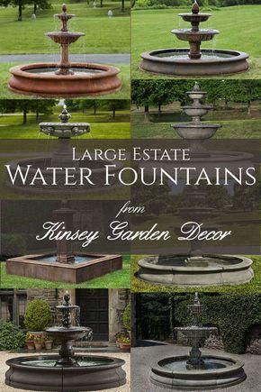 Charleston Fountain In Basin Extra Large Kinsey Garden Decor Fountains Outdoor Fountains Backyard Water Fountains Outdoor