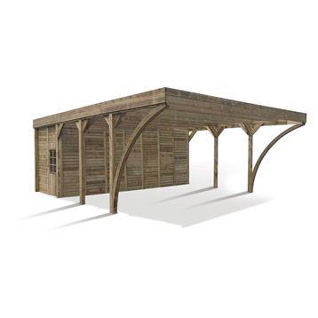 car port Carport bois adossé pas cher u2013 Vente carports 2 voitures - construire son garage en bois