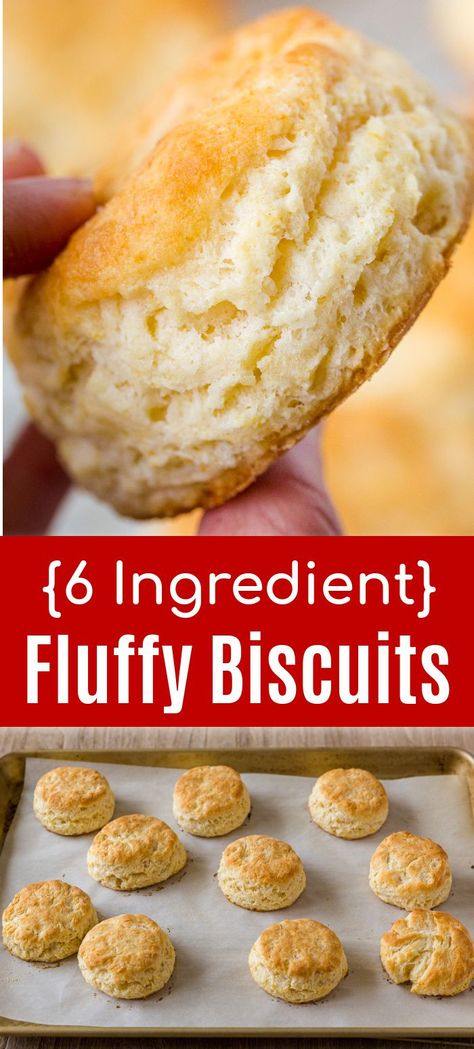 Homemade Biscuits are so easy to make and these are the fluffiest biscuits. This Biscuit Recipe has just 6 ingredients and creates an irresistible crisp exterior with a super soft center. If you love homemade bread, but don't like to wait for them to rise this biscuit recipe is for you. They're perfect for any cooking skill level and taste way better than store-bought biscuits out of a can. It's also easy to make biscuits in advance. #biscuits #homemadebiscuits #biscuitsandgrav