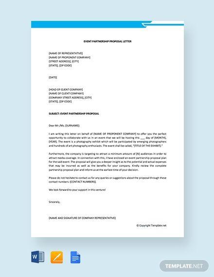 Free Event Partnership Proposal Letter Proposal Letter Event