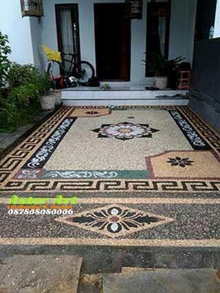 Aster Art Jasa Perencanaan Desing Dan Pembuatan Lantai Carpot Batu Sikat Motif Bali Tukang Buat Lantai Karpot Batu Sikat Motif Desain La Lantai Desain Bali