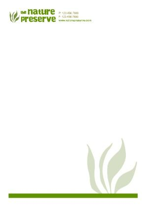 Nature related letterhead template Try this template now using - business letterhead template free