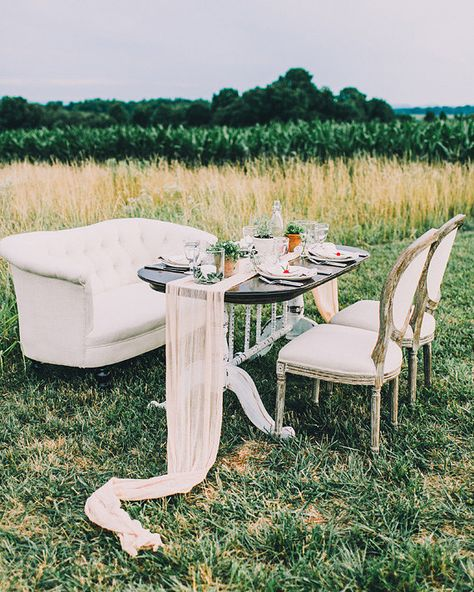 Peach farm wedding inspiration | Photo by Rachel May Photography | Read more - http://www.100layercake.com/blog/?p=78392  #outdoor #rustic #tablescape #wedding