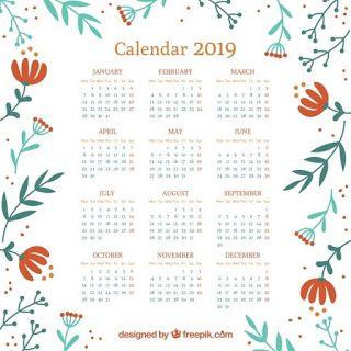 Calendario Vectores.Calendarios 2019 Gratis Para Imprimir Pdf Word Excel