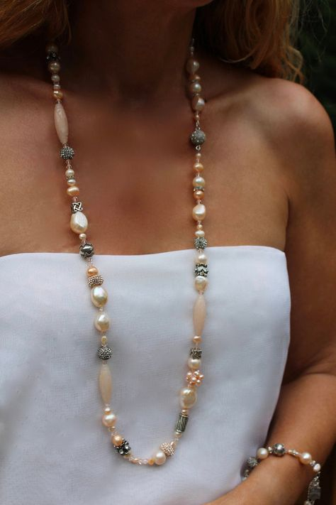 ADD ON PEARL NECKLACE RARE LARGE 8MM 14K GOLD CHAIN A FAMILY TRADITION