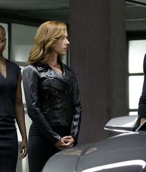 Black Widow Captain America Civil War Jacket - Female / Faux Leather / 2X-Large