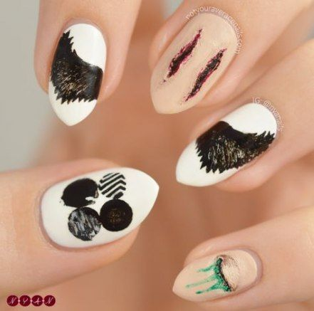 51 Ideas Nails Black Pink Kpop Nails Korean Nail Art Black