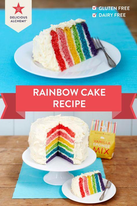 Gluten Free Rainbow Cake Cake Cake Recipes Desserts