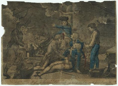 """""""The Death of Capt. James Lawrence on board the Chesapeake June 1st. 1813"""" by Ralph Rawdon"""